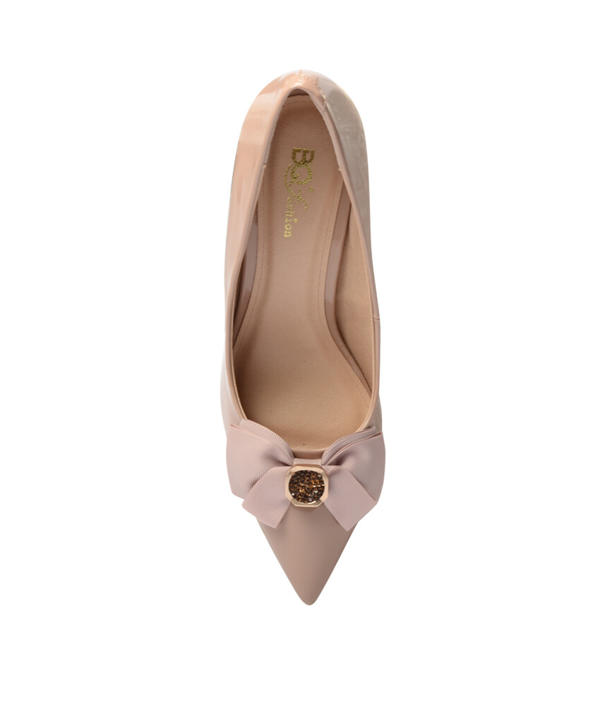 Giày cao gót BQ547 - GB 547-222 - Kem-16596