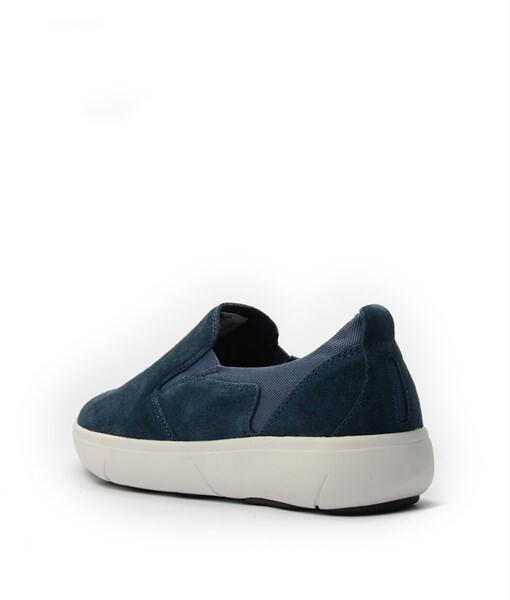 Giày Slip-on nam Suede màu xanh, đế su GTT6236 3