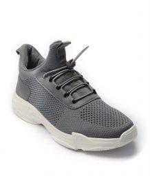 Giày Sneaker Unisex dây rút phối lưới màu xám,đế su GTT BQ02 5
