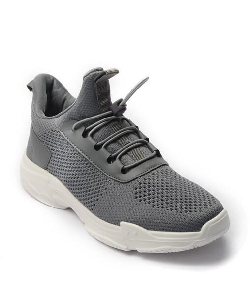 Giày Sneaker Unisex dây rút phối lưới màu xám,đế su GTT BQ02 1