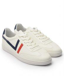Giày Sneaker nam cột dây gạch viền màu trắng, đế su GTT577-62 7