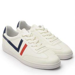 Giày Sneaker nam cột dây gạch viền màu trắng, đế su GTT577-62 8