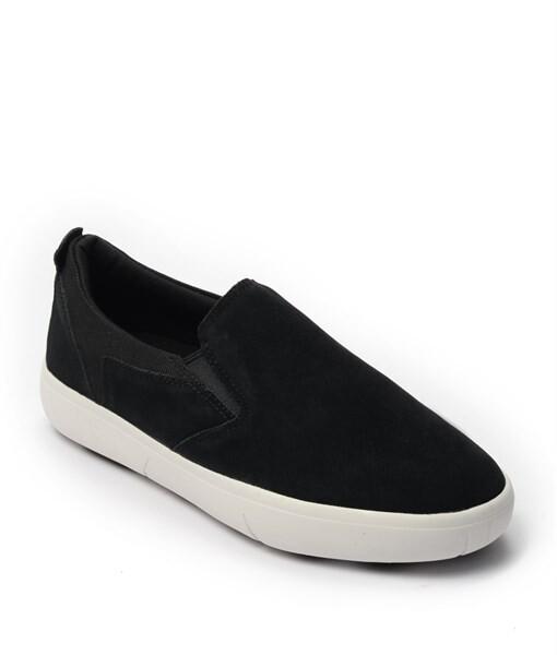 Giày Slip-on nam Suede màu đen, đế su GTT6236 1