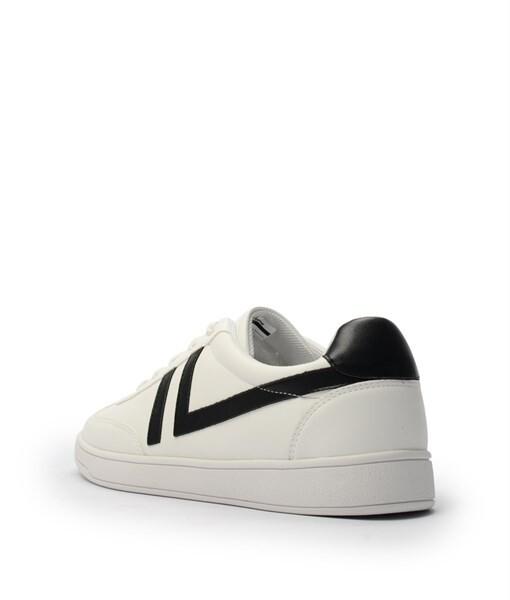 Giày Sneaker nam cột dây gạch viền màu đen, đế su GTT577-62 3