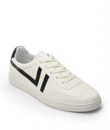 Giày Sneaker nam cột dây gạch viền màu đen, đế su GTT577-62 6