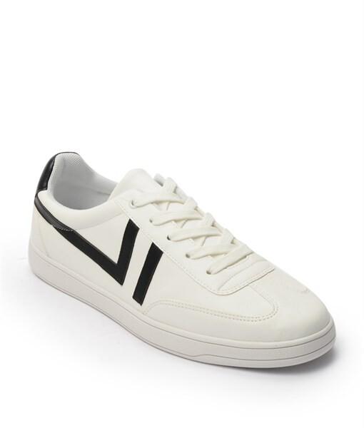 Giày Sneaker nam cột dây gạch viền màu đen, đế su GTT577-62 1
