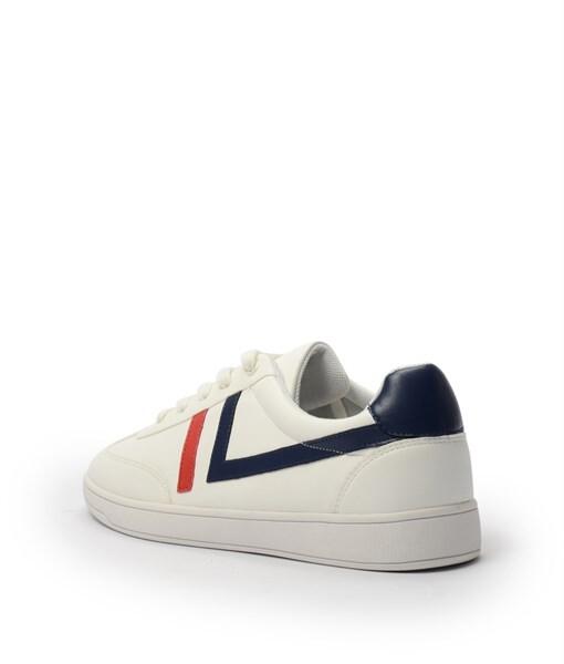 Giày Sneaker nam cột dây gạch viền màu trắng, đế su GTT577-62 3