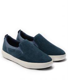 Giày Slip-on nam Suede màu xanh, đế su GTT6236 7