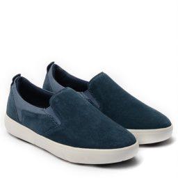 Giày Slip-on nam Suede màu xanh, đế su GTT6236 4