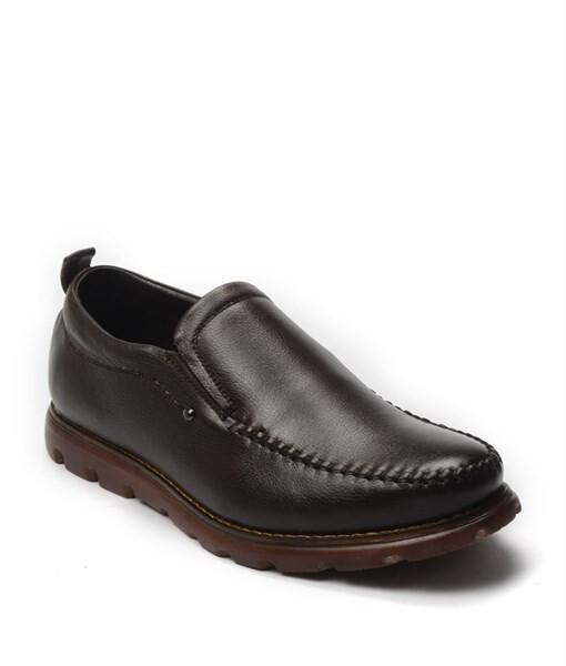 Giày lười Boots nam đế su chống trơn trợt cao màu nâu , GC8210 1