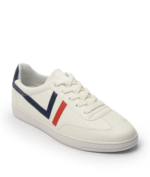 Giày Sneaker nam cột dây gạch viền màu trắng, đế su GTT577-62 1