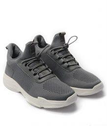 Giày Sneaker Unisex dây rút phối lưới màu xám,đế su GTT BQ02 6