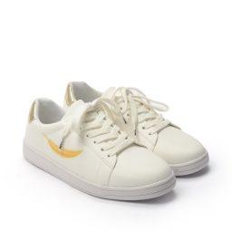 Giày Sneaker nữ thêu chiếc lá phong cách Hàn Quốc màu vàng, đế su GTT577-56 11