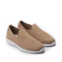 Giày Slip-on phối lưới cổ thấp cực êm màu nâu, đế su GTT577-64 5