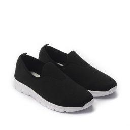 Giày Slip-on phối lưới cổ thấp cực êm màu đen, đế su GTT577-64 6