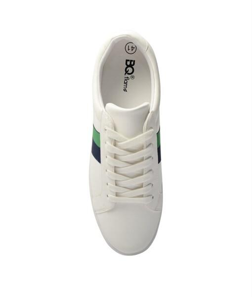 Giày Sneaker nam họa tiết color brick màu trắng, đế su GTT577-61 3