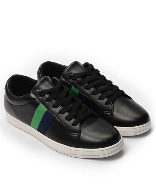 Giày Sneaker nam họa tiết color brick màu đen, đế su GTT577-61 2