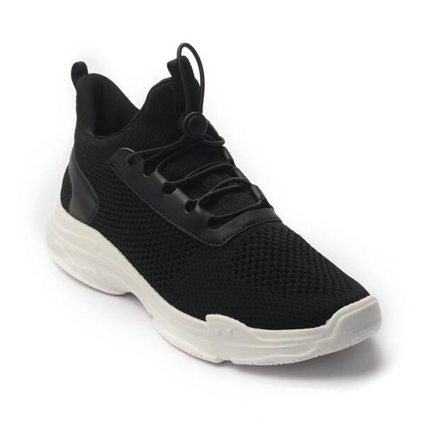 Giày Sneaker Unisex dây rút phối lưới màu đen,đế su GTT BQ02 - 39 1